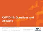 COVID-19: Questions and Answers by Jonathan Perlin MD and Kenneth Sands MD