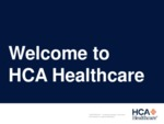 Welcome to HCA Healthcare