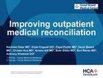 Improving Outpatient Medical Reconciliation