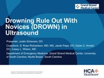 Drowning Rule Out With Novices (DROWN) in Ultrasound